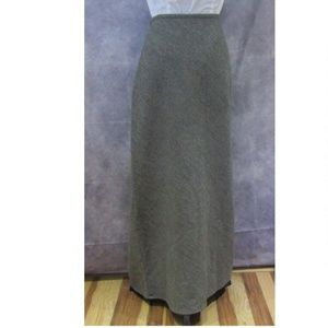 Banana Republic Wool Skirt Modest Maxi No Slit 8